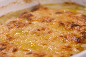 Poireaux au jambon gratinés au comté par Laurent Mariotte