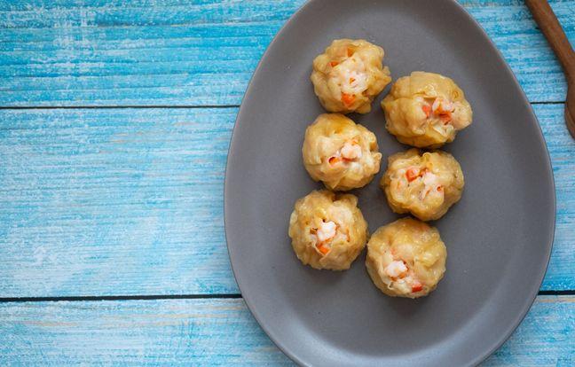 Bouchées vapeur poulet crabe (chine)