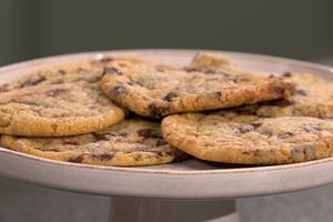 Cookies au coeur coulant choco-noisette par Laurent Mariotte