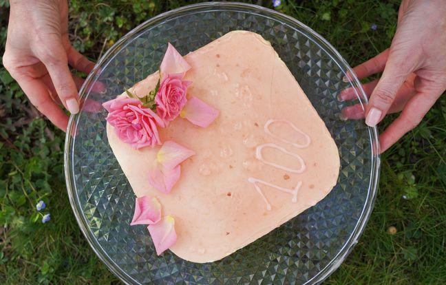 Gâteau litchi-rose