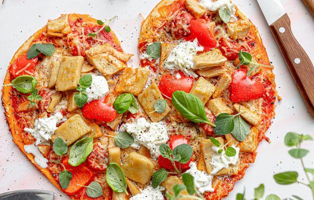 Pizza burrata aux émincés de soja