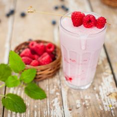 Milk-shake aux framboises