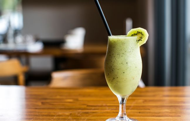 Cocktail de kiwi y arroz con leche