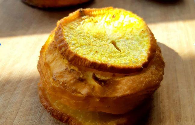 Millefeuille de navets au beurre d'épices