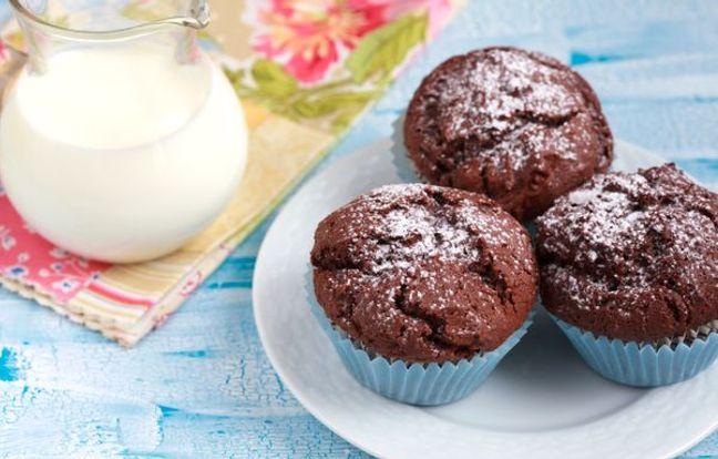 Muffins de chocolate blanco y negro
