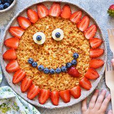 Crêpe soleil aux fraises
