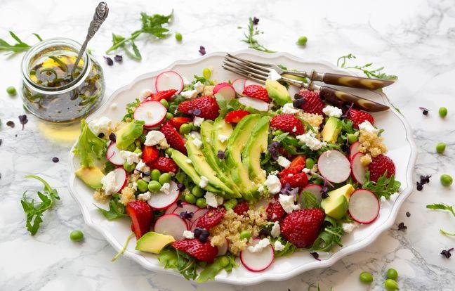 Salade printanière de quinoa et feta
