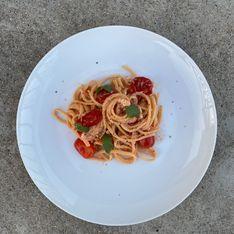Baked feta pasta hors saison