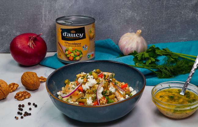 Salade de Boulgour aux légumes et à la feta