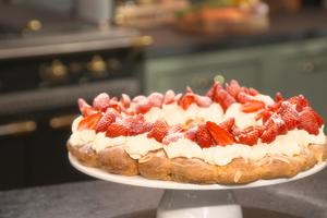 Chou à la crème et aux fraises par Laurent Mariotte