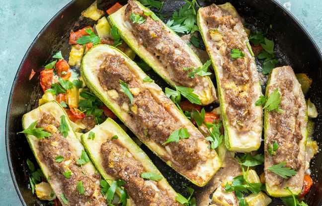 Courgettes farcies au barbecue