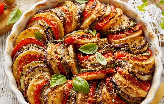 Tian de courgettes et tomates au barbecue