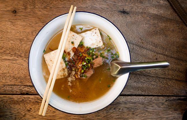 Soupe de régime au miso et au poulet