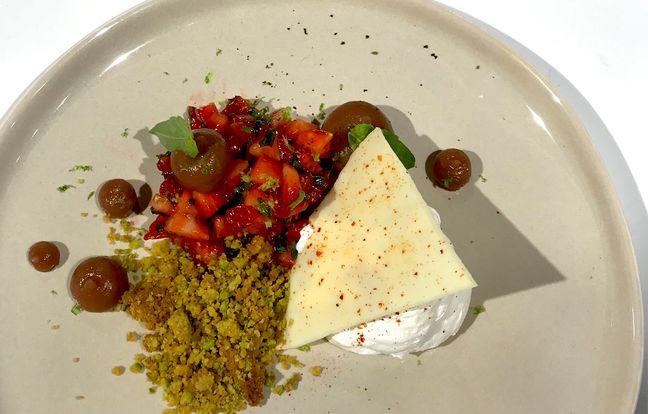 Tartare de fraises gariguette par Mallory Gabsi