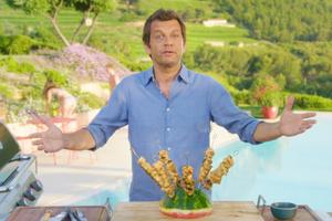 Brochette de volaille au miel par Laurent Mariotte