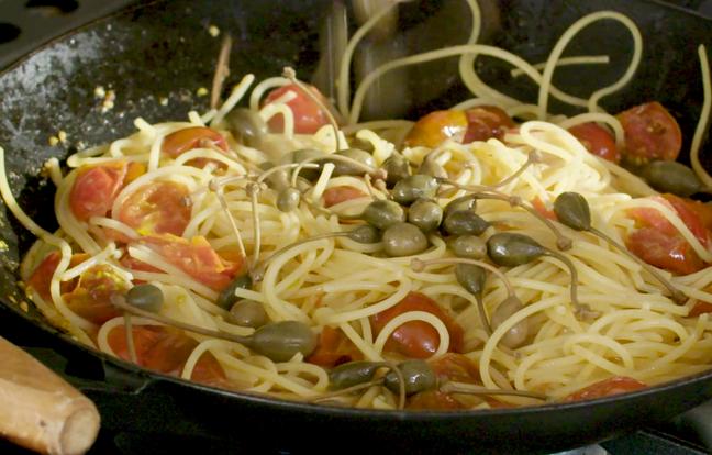 Spaghetti alla puttanesca par Laurent Mariotte
