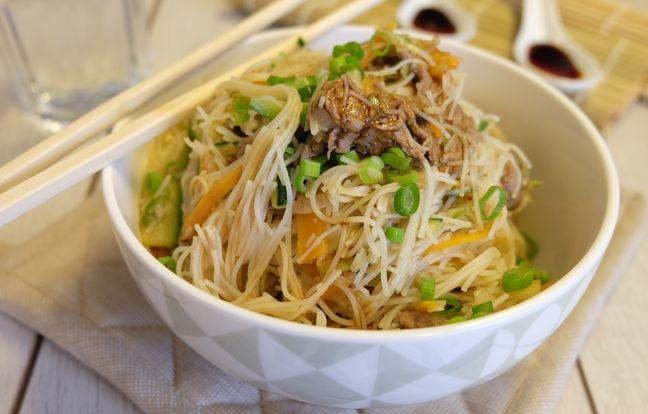 Japchae, nouilles sautées à la coréenne
