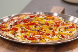 Pizza ricotta poivrons par Laurent Mariotte