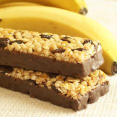 Barrette di cereali alla banana
