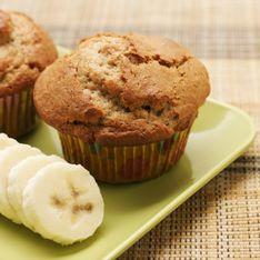 Muffin con banane e noci