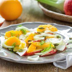 Insalata di finocchi, arance e mirtilli