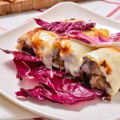 Cannelloni con radicchio e gorgonzola