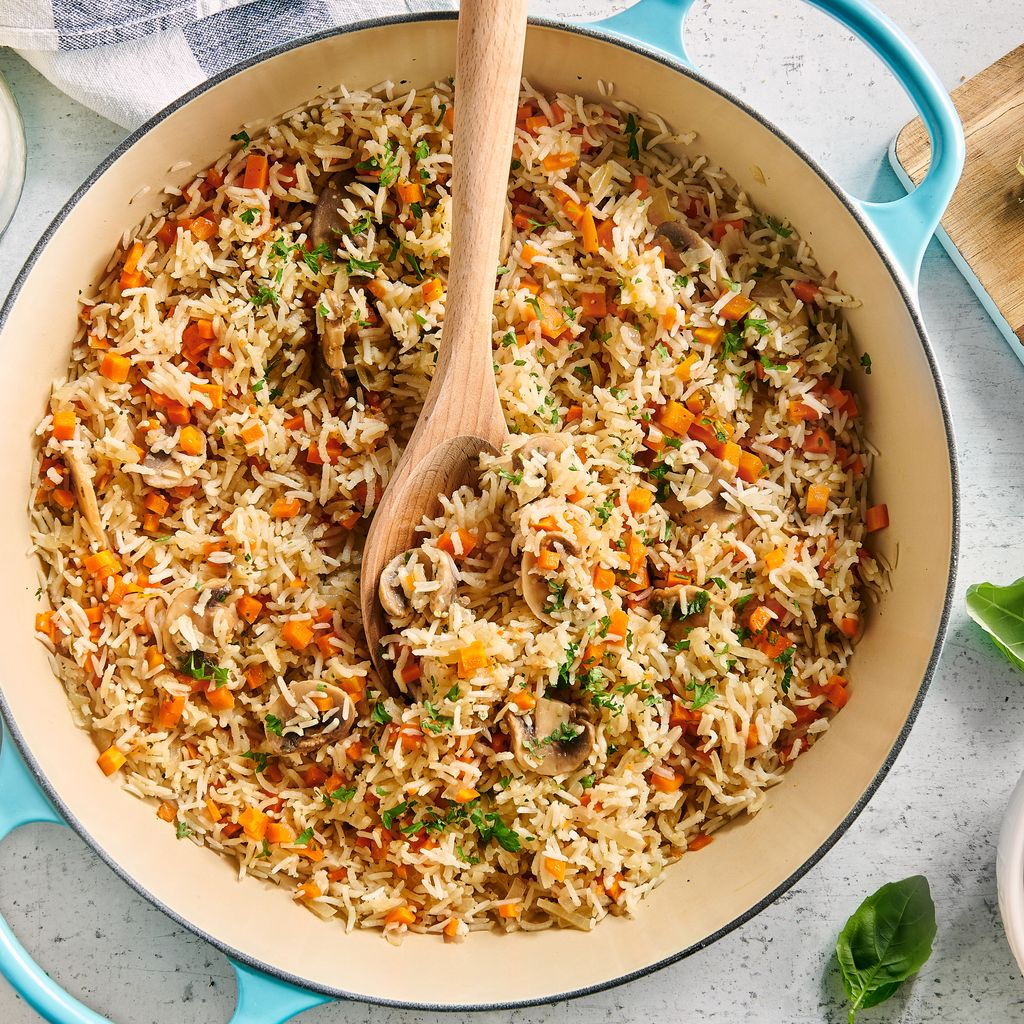 Riz pilaf carottes champignons