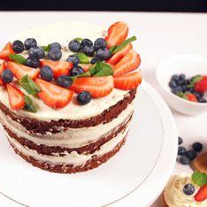 Torta fragoline di bosco e crema chantilly
