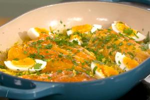 Riz au curry, haddock kedgeree par Laurent Mariotte
