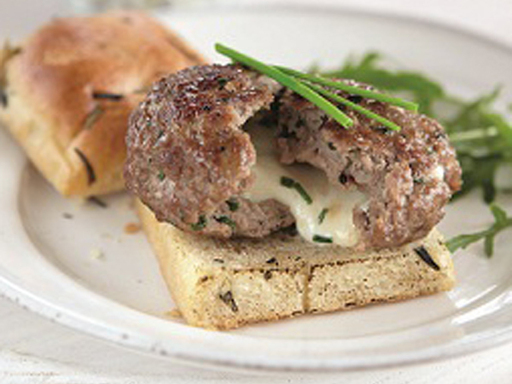 Veal burger with mozzarella