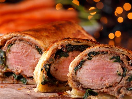 Christmas Spiced Pork & Chestnut Wellington