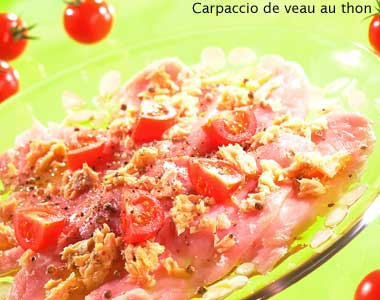 Carpaccio of  veal with tuna