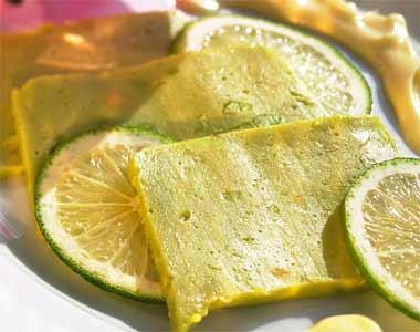 Avocado and lime terrine