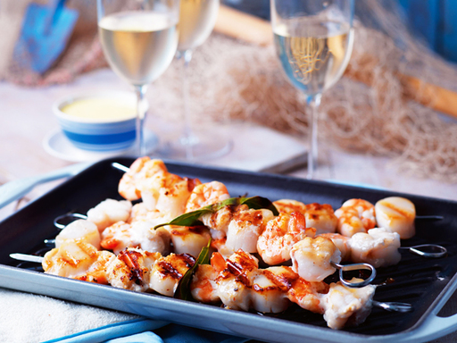 Barbecue Seafood Brochettes
