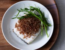 Roasted Norwegian Haddock with Bacon & Rye Crisp