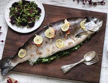Roast Salmon with Beetroot, Kale & Pomegranate Salad