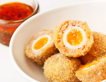 Galton Blackiston's Quail Scotch Eggs with Bois Boudran Dipping Sauce
