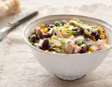 Bohnen-Mais-Salat mit Thunfisch