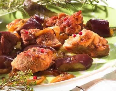 Pork with aubergines