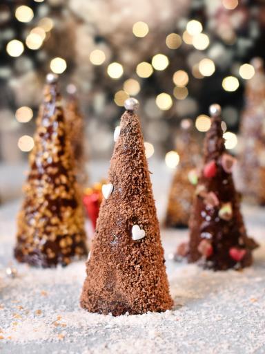 Recipe Christmas Trees with Ice Cream Cones
