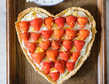 Strawberry, Ricotta, Lemon and Cream Tart