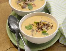 Süßkartoffel-Hack-Suppe