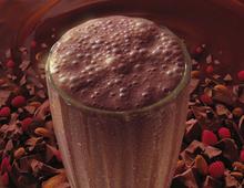 Chocolate & raspberry milkshake