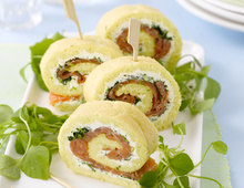 Lachsrolle mit Dill