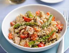 British Asparagus, Quinoa & Smoked Chicken Salad