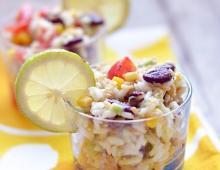 Mexikanischer Reis-Salat