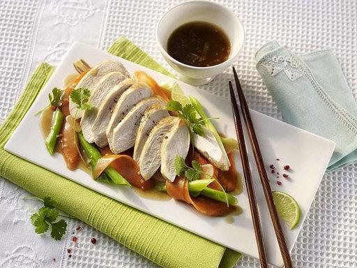 Asiatisches Hähnchen aus der Folie