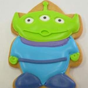Three eyed alien cookies