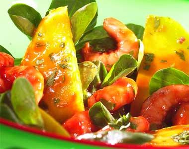 Exotic seafood salad