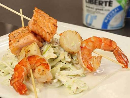 Seafood with Fennel, Apple and Celeriac Salad